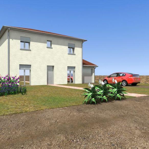 Maison neuve à Ambronay (01500) sur 900m2