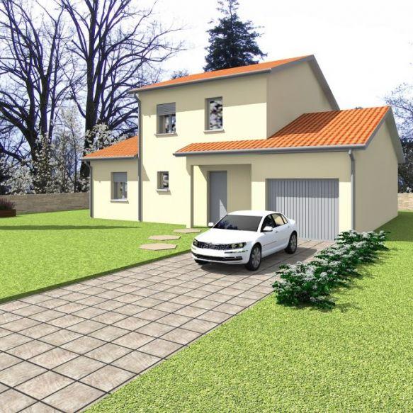 Rare maison neuve hors lotissement à Saint-Priest 69800