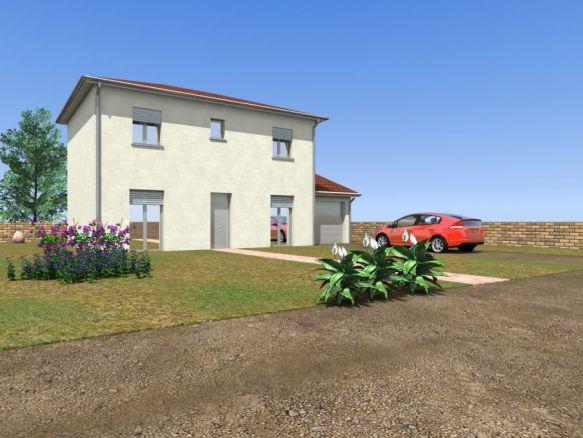 Maison neuve à Montceau 01090 ,  3mn sortie autoroute Belleville