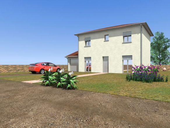 Maison neuve à Neuville sur Ain - vue imprenable